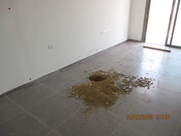 ביקורת ליקויי בנייה דירת 4 חדרים חדשה פרוטוקול ראשון